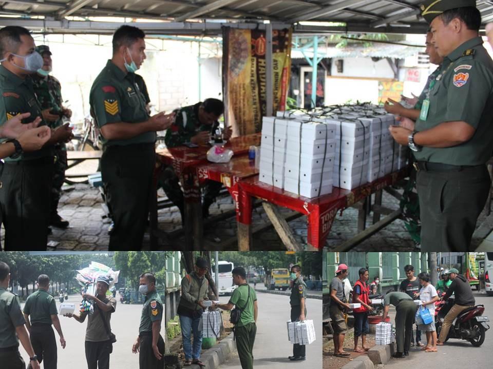 Pemberian Bingkisan Makan Siang Untuk Para Pedagang dan Masyarakat dilingkungan Ditkumad