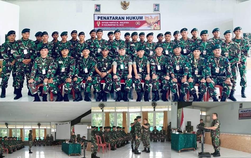 Kegiatan Penataran Hukum Satuan Tugas Pengamanan Perbatasan Yonif R 641/BRU